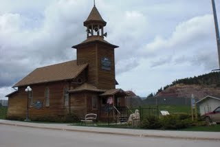 Old Lutheran Church in Lead, SD.