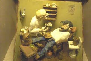 Getting a Shave.