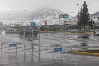Snow in Butte, Montana.
