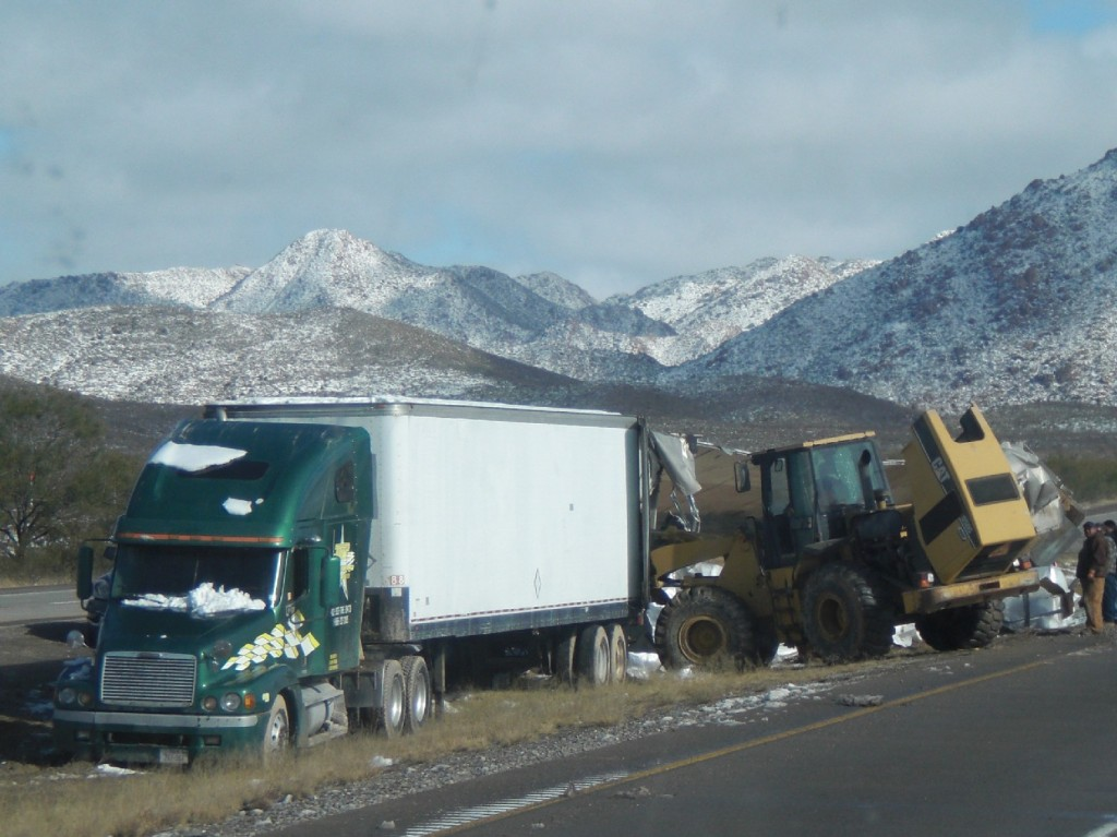 Dealing with snow wrecked trucks
