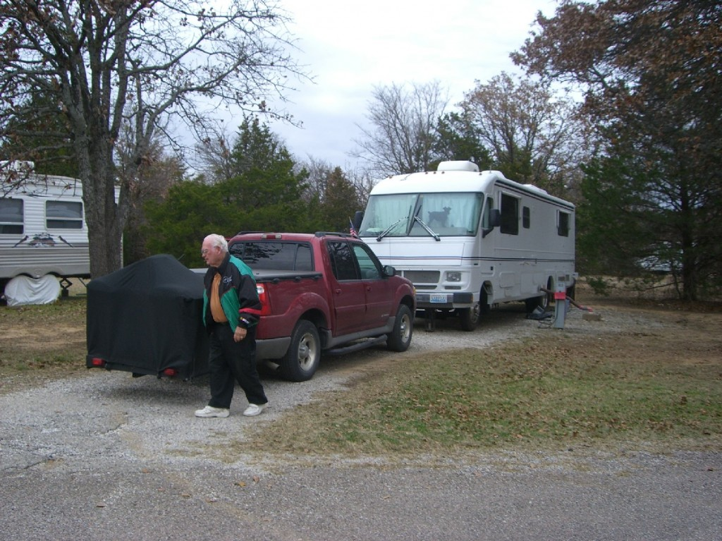Our campsite at Lake Texoma Thousand Trails RV Park