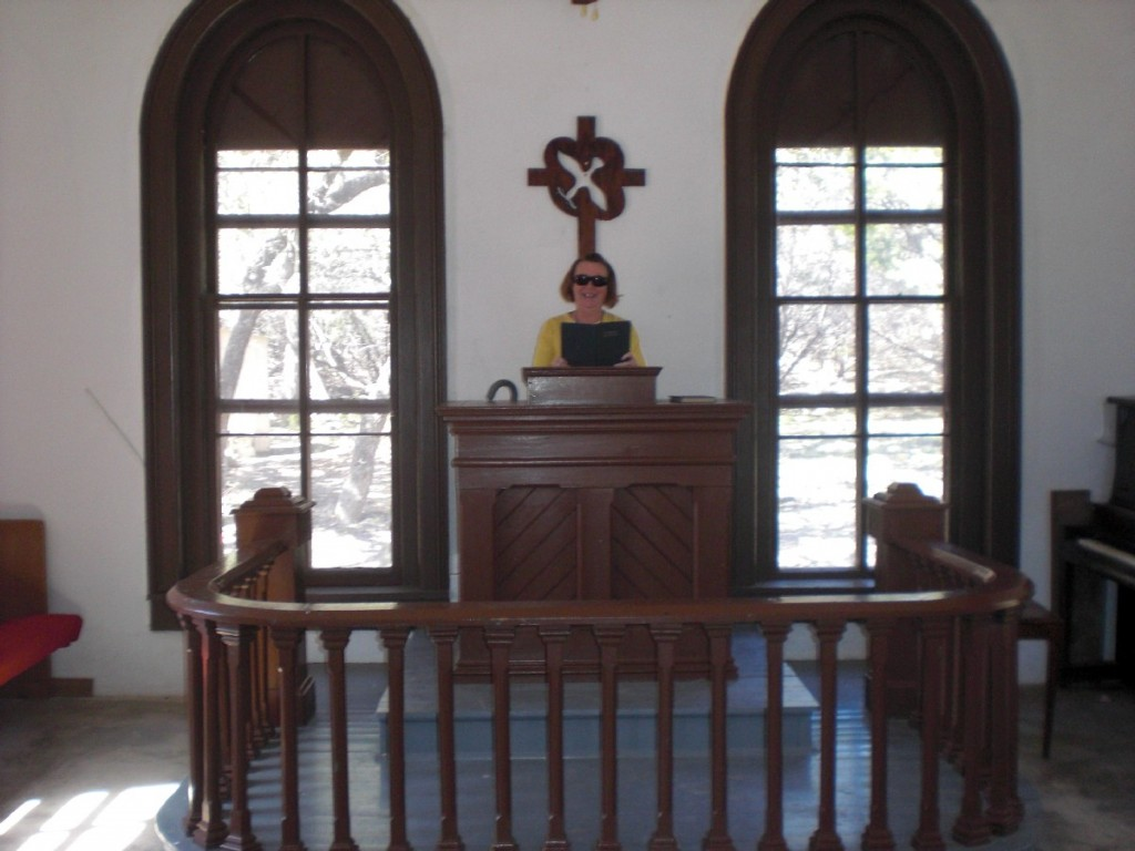 K.C. at the pulpit