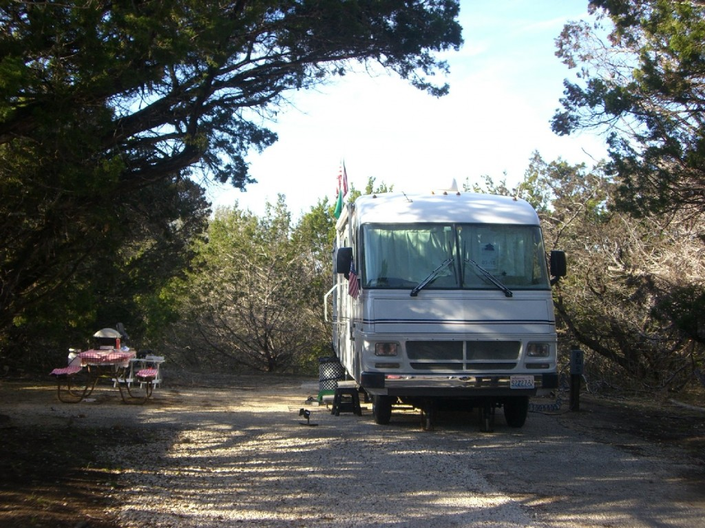 Our campsite at Medina Lake