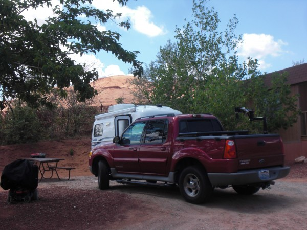 Our campsite at Gouldings