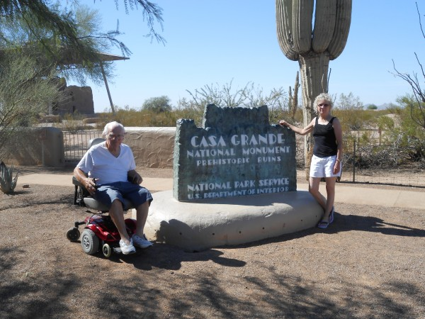 Rose and Bob at Casa Grande National Monument